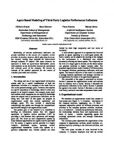 Agent-Based Modeling of Third-Party Logistics ...