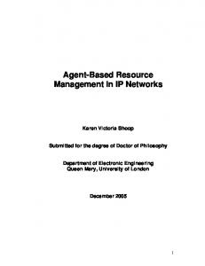 Agent-Based Resource Management in IP Networks
