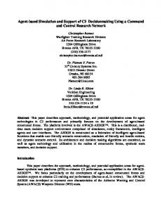 Agent-based Simulation and Support of C3 Decisionmaking Using a ...