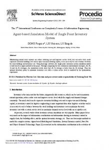 Agent-based Simulation Model of Single Point ... - ScienceDirect
