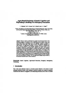 Agent-Based Simulation of Spatial Cognition and