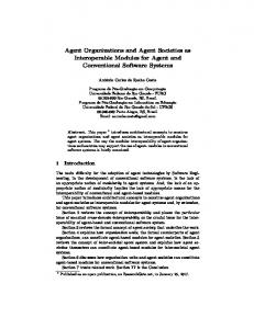 Agent Organizations and Agent Societies as ...