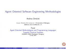 Agent Oriented Software Engineering Methodologies - CiteSeerX