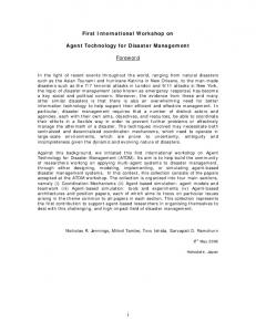 Agent Technology for Disaster Management - Electronics and ...