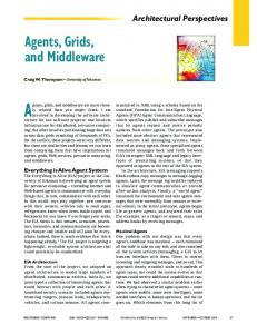 Agents, Grids, and Middleware - Computer Science and Computer ...