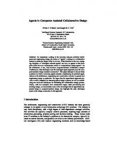 Agents in Computer-Assisted Collaborative Design - CiteSeerX