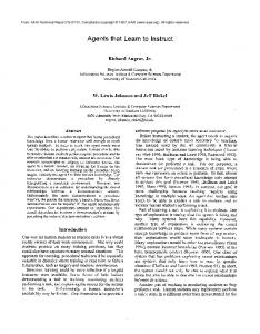Agents that Learn to Instruct - Semantic Scholar
