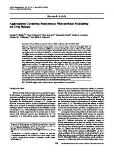 Agglomerates Containing Pantoprazole Microparticles: Modulating the ...
