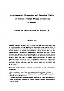 Agglomeration Economies and Location Choice of ... - Semantic Scholar