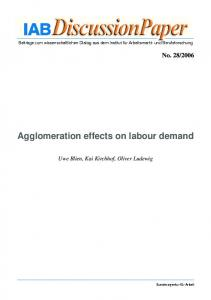 Agglomeration effects on labour demand - Core