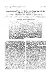 Agglutination of Naegleria fowleri and Naegleria gruberi by Antibodies ...