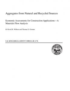 Aggregates from Natural and Recycled Sources-Economic