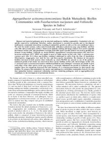Aggregatibacter actinomycetemcomitans - Infection and Immunity
