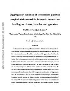 Aggregation kinetics of irreversible patches coupled with