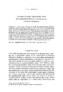 Aggregation theorems and multidimensional stochastic ... - Springer Link