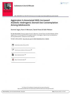 Aggression Is Associated With Increased Anabolic ...