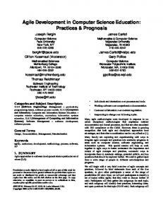 Agile Development in Computer Science Education: Practices ...