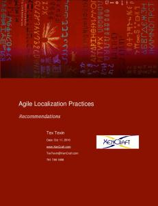 Agile Localization Practices - I18n Guy