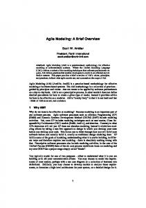 Agile Modeling: A Brief Overview - Semantic Scholar