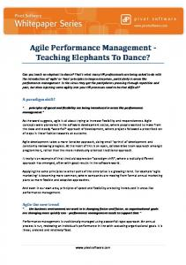 Agile Performance Management Whitepaper - Pivot Software