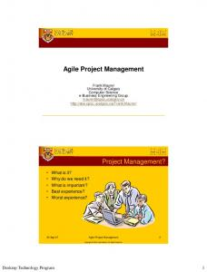 Agile Project Management Project Management?