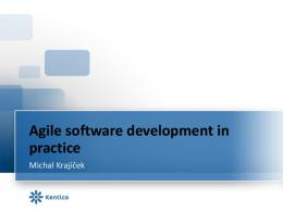 Agile software development in practise