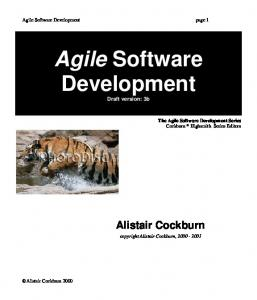 Agile Software Development - SNIP