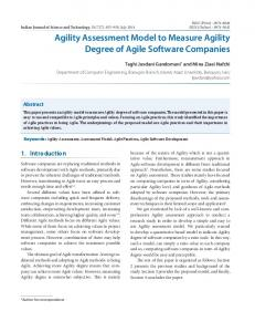 Agility Assessment Model to Measure Agility Degree of ... - CiteSeerX
