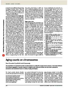 Aging counts on chromosomes - Nature