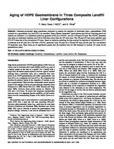 Aging of HDPE Geomembrane in Three Composite Landfill Liner ...