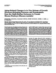Aging-Related Changes in in Vivo Release of Growth Hormone ...