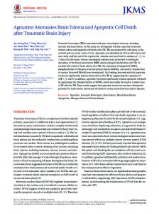 Agmatine Attenuates Brain Edema and Apoptotic Cell Death after ...