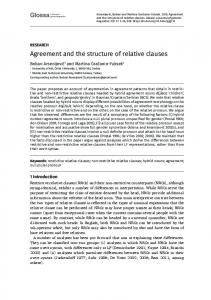 Agreement and the Structure of Relative Clauses