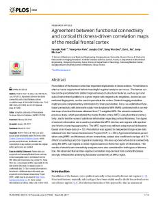Agreement between functional connectivity and