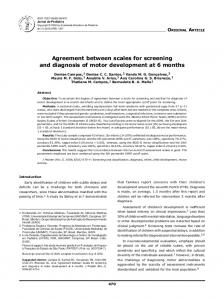 Agreement between scales for screening and diagnosis of motor ...