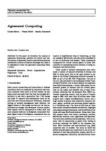Agreement Computing - Semantic Scholar