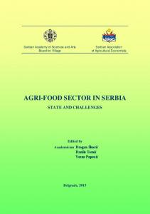 agri-food sector in serbia - AgEcon Search