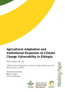 Agricultural Adaptation and Institutional Responses ... - CGSpace - cgiar