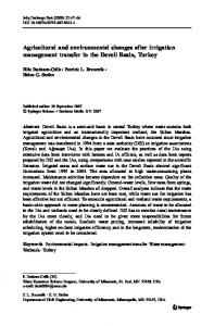 Agricultural and environmental changes after irrigation ... - CiteSeerX