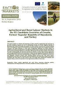 Agricultural and Rural Labour Markets in the EU Candidate Countries ...