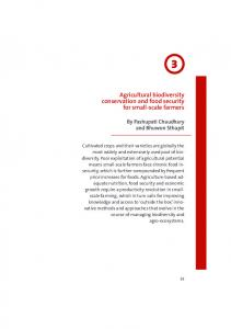 Agricultural biodiversity conservation and food