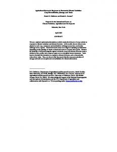 Agricultural Economic Responses to Forecasted Climate ... - CiteSeerX