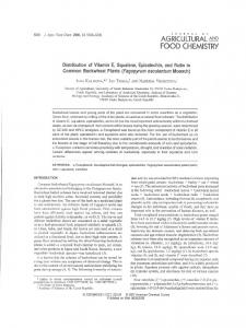 agricultural food chemistry