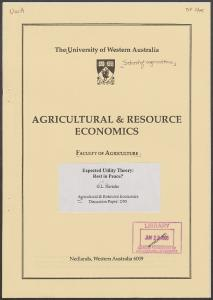 agricultural & resource economics - AgEcon Search