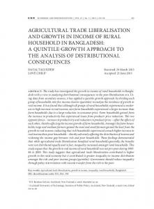 AGRICULTURAL TRADE LIBERALISATION AND GROWTH IN ...