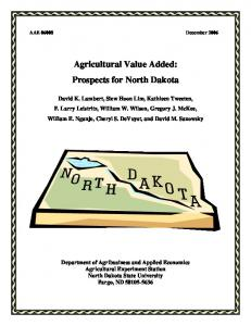 Agricultural Value Added: Prospects for North Dakota - AgEcon Search