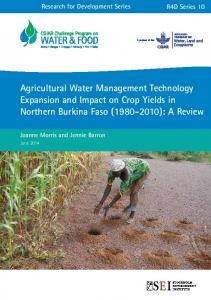 Agricultural Water Management Technology Expansion and Impact on ...