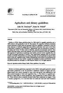 Agriculture and dietary guidelines - PubAg - USDA