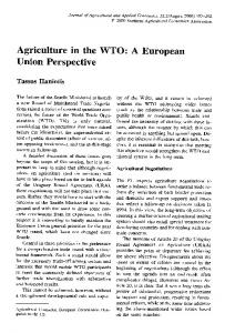 Agriculture in the WTO: A European Union Perspective - AgEcon Search