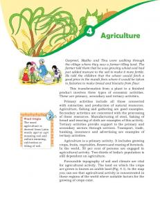 Agriculture - NCERT BOOKS and CBSE BOOKS